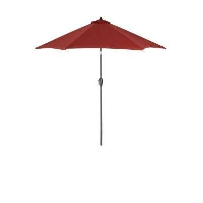 Most Recently Released Jordan Patio Umbrellas With Crank Lift System – Market Umbrellas – Patio Umbrellas – The Home Depot (View 7 of 15)