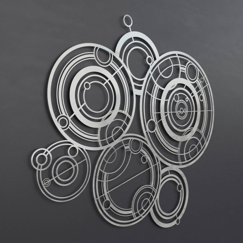 Most Recently Released Large Metal Wall Art Throughout Dr Who Gallifreyan Large Metal Wall Art, Science Wall Art, Modern (View 11 of 15)