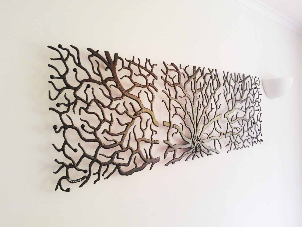 Most Recently Released Large Metal Wall Art With Wall Decor: Small Sectionals And Large Metal Wall Art Also Flat (View 13 of 15)