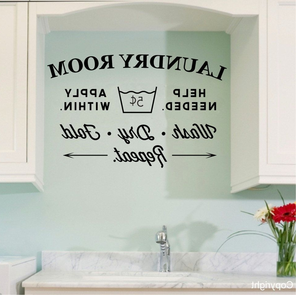 Most Recently Released Laundry Room Wall Art Intended For Vintage Laundry Room Wall Decal. $32.00, Via Etsy (View 10 of 15)