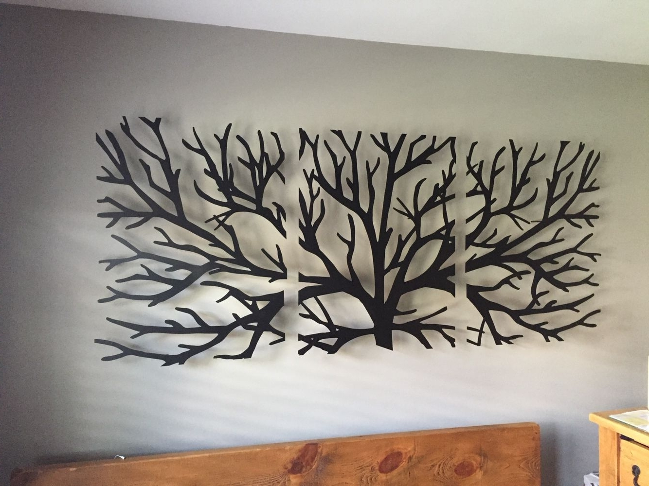 Most Recently Released Metal Wall Art Intended For Wall Art Headboard … (View 11 of 15)
