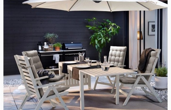 Most Recently Released Outdoor Patio And Furniture Side Table With Storage Covers Square Inside Patio Umbrellas With Accent Table (View 12 of 15)