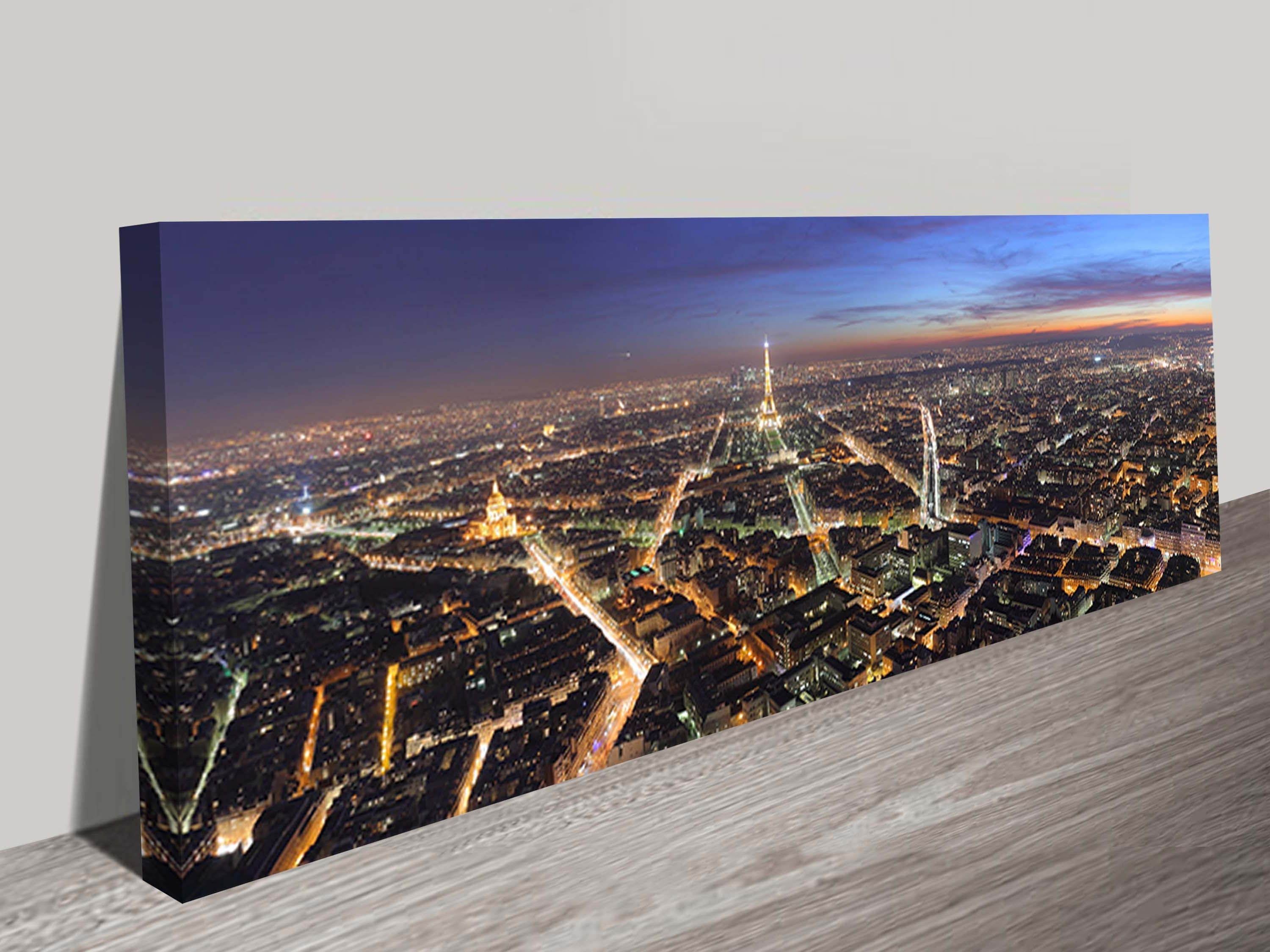 Most Recently Released Parisnight Panoramic Canvas Wall Art With Cheap Canvas Wall Art (View 4 of 15)