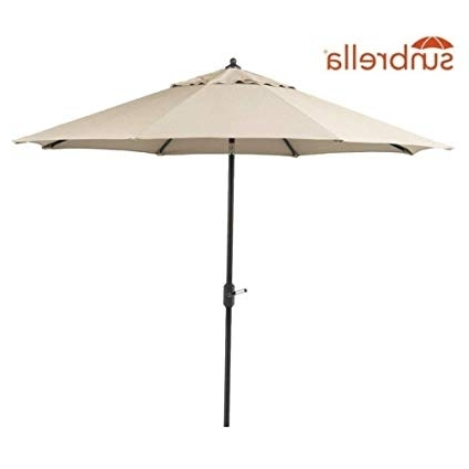 Most Recently Released Patio Umbrellas With Sunbrella Fabric In Amazon : Bayside21 9' Patio Umbrella Outdoor Table Aluminum (View 5 of 15)