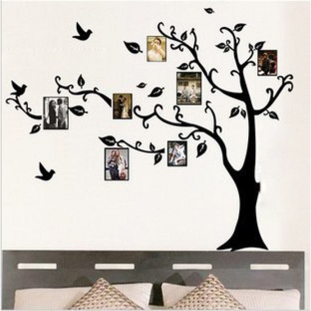 Most Recently Released Photo Frames Family Tree Wall Sticker With Regard To Family Tree Wall Art (View 8 of 15)