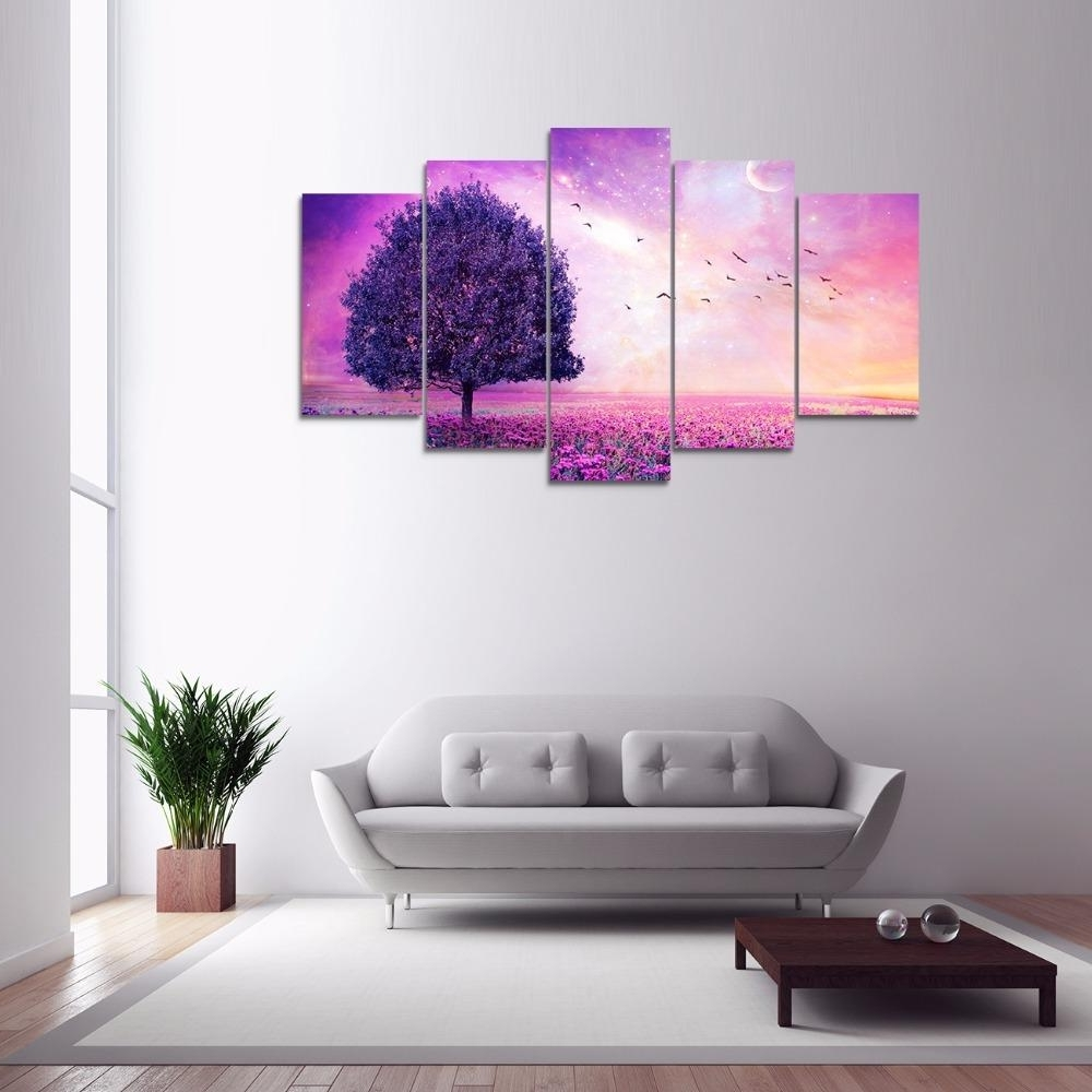 Most Recently Released Purple And White Wall Decor – Blogtipsworld Intended For Purple And Grey Wall Art (View 6 of 15)