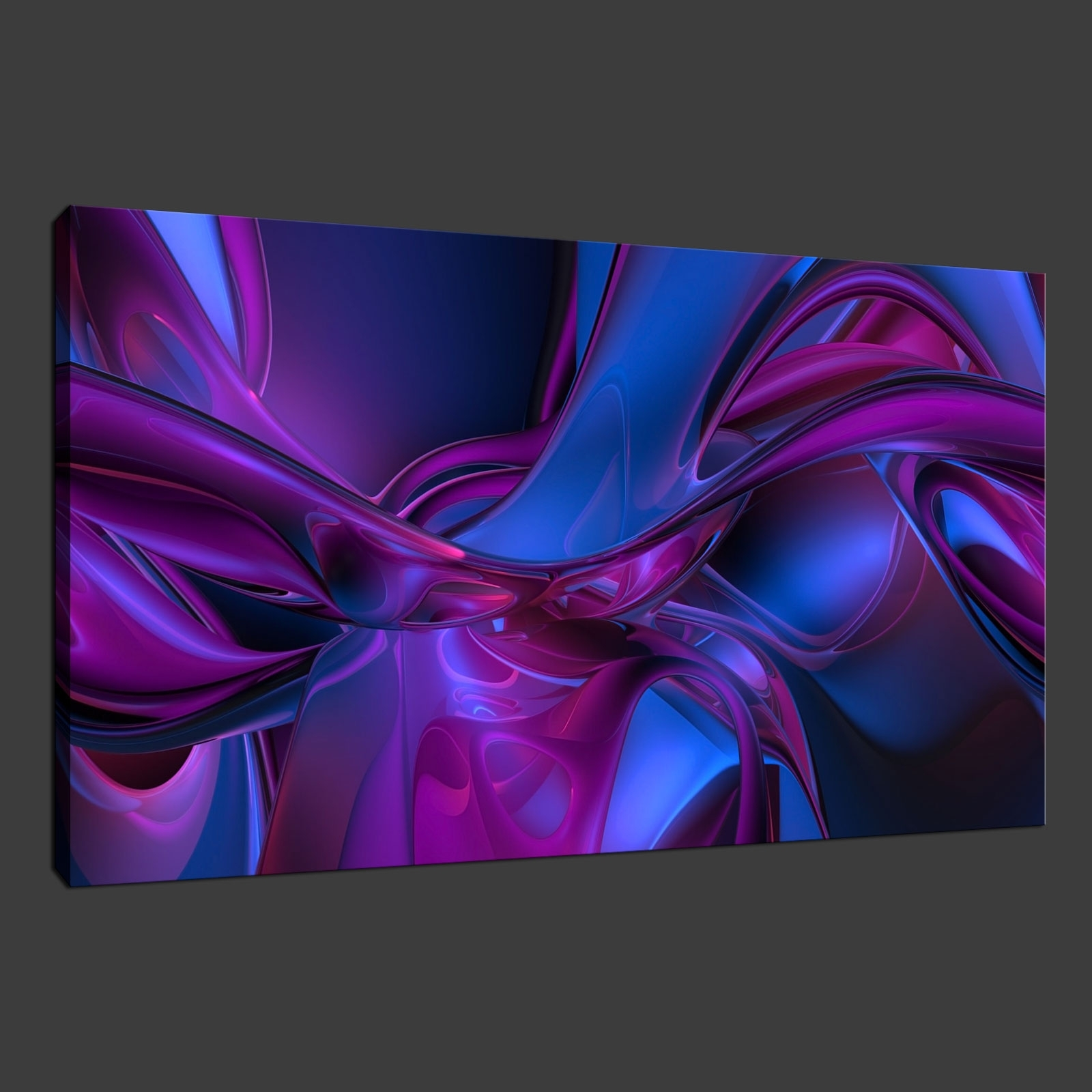 Most Recently Released Purple Wall Art Canvas for Purple Blue Abstract Premium Canvas Print Wall Art Modern Design
