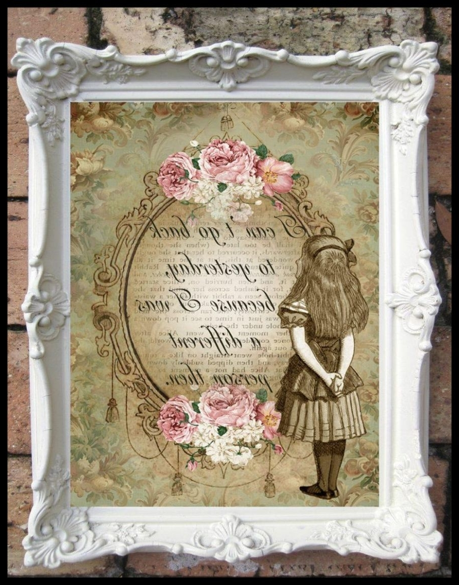 Most Recently Released Shabby Chic Wall Art In Amazing Collection Of Shabby Chic Canvas Wall Art Ideas Image For (View 2 of 15)