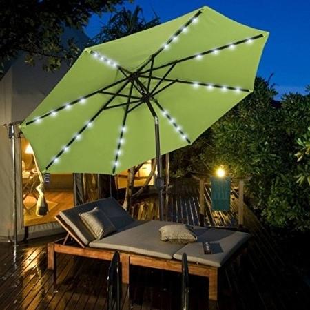 Most Recently Released Solar Patio Umbrellas Regarding The 10 Best Patio Umbrellas To Buy In 2018 – Bestseekers (View 13 of 15)