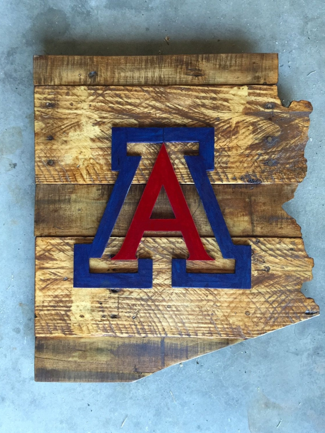 Most Recently Released University Of Arizona Wood Sign, Arizona Sign, University Of Arizona Intended For Arizona Wall Art (View 7 of 15)