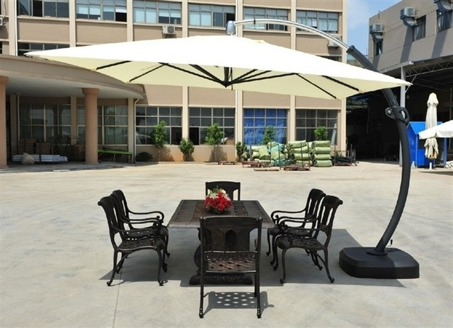Most Recently Released Upscale Patio Umbrellas Throughout Big Bend Pole Rome Umbrella Umbrellas Large Patio Outdoor Sun Square (View 7 of 15)