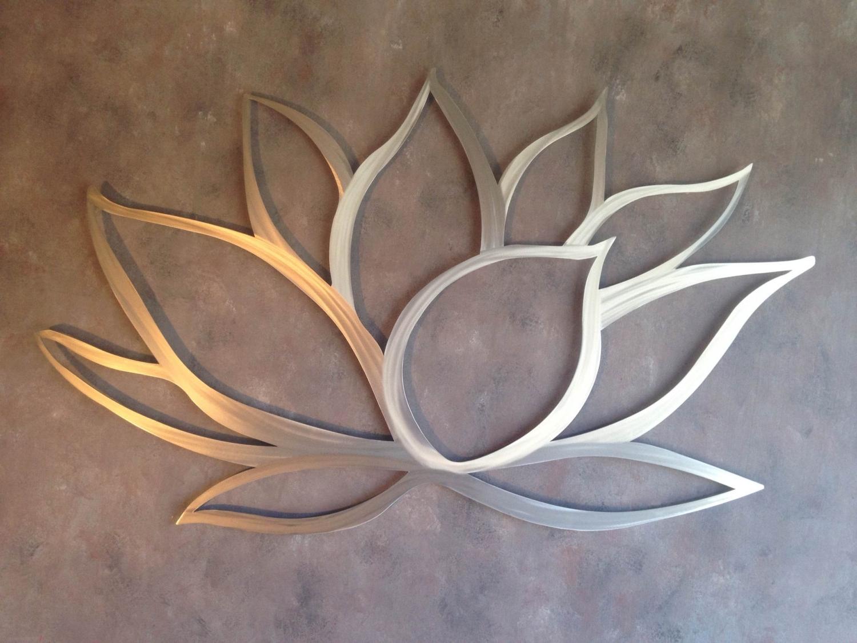 Most Recently Released Wall Art Metal With Lotus Flower Metal Wall Art – Tierra Este (View 6 of 15)
