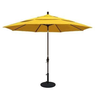 Most Recently Released Yellow Patio Umbrellas For Yellow – Market Umbrellas – Patio Umbrellas – The Home Depot (View 4 of 15)