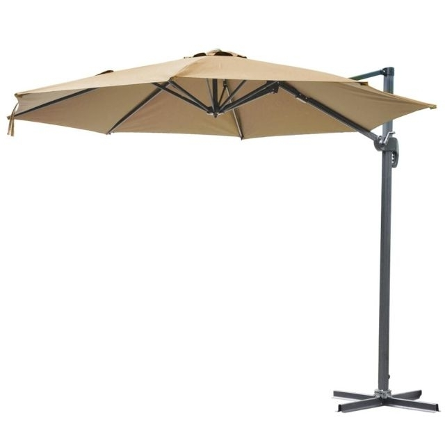 Most Up To Date 10Ft Hanging Offset Roma Outdoor Patio Umbrella Uv30 W/ Crank Pedal With Regard To Yescom Patio Umbrellas (View 3 of 15)