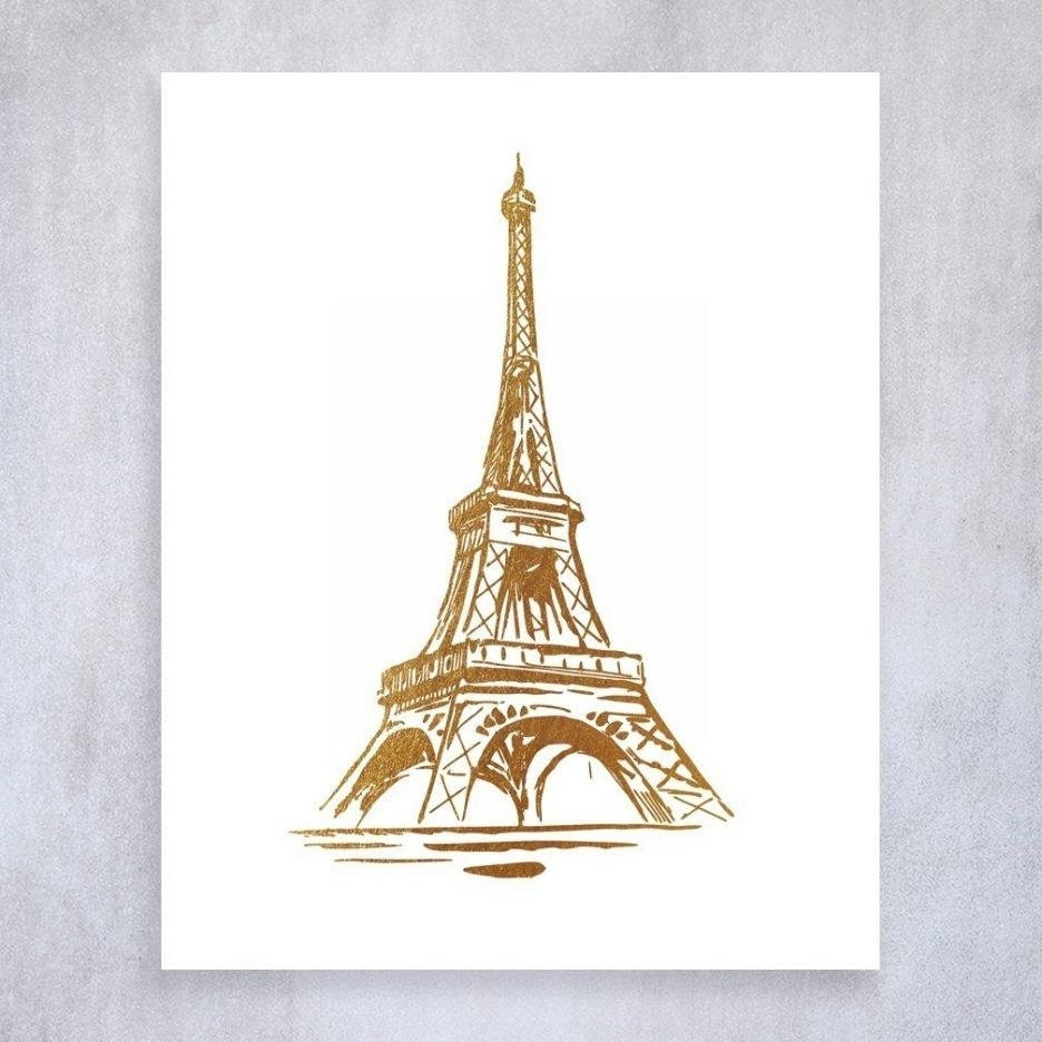 Most Up To Date 20 Collection Of Paris Theme Wall Art Wall Art Ideas, Paris Eiffel With Regard To Eiffel Tower Wall Art (View 8 of 15)