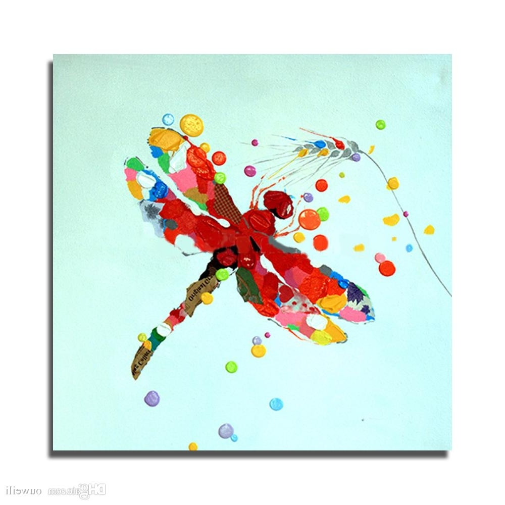 Most Up To Date 2018 Traditional Designs Of Fabric Painting Cartoon Animal Dragonfly Pertaining To Dragonfly Painting Wall Art (View 11 of 15)