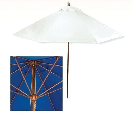 Most Up To Date 7 Ft Patio Umbrella Personalized White 7 Ft X 6 Panel Configuration With Vinyl Patio Umbrellas (View 12 of 15)
