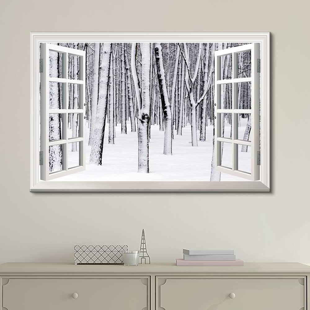 Most Up To Date Amazon: Wall26 Canvas Print Wall Art – Window Frame Style Wall Pertaining To Window Frame Wall Art (View 14 of 15)