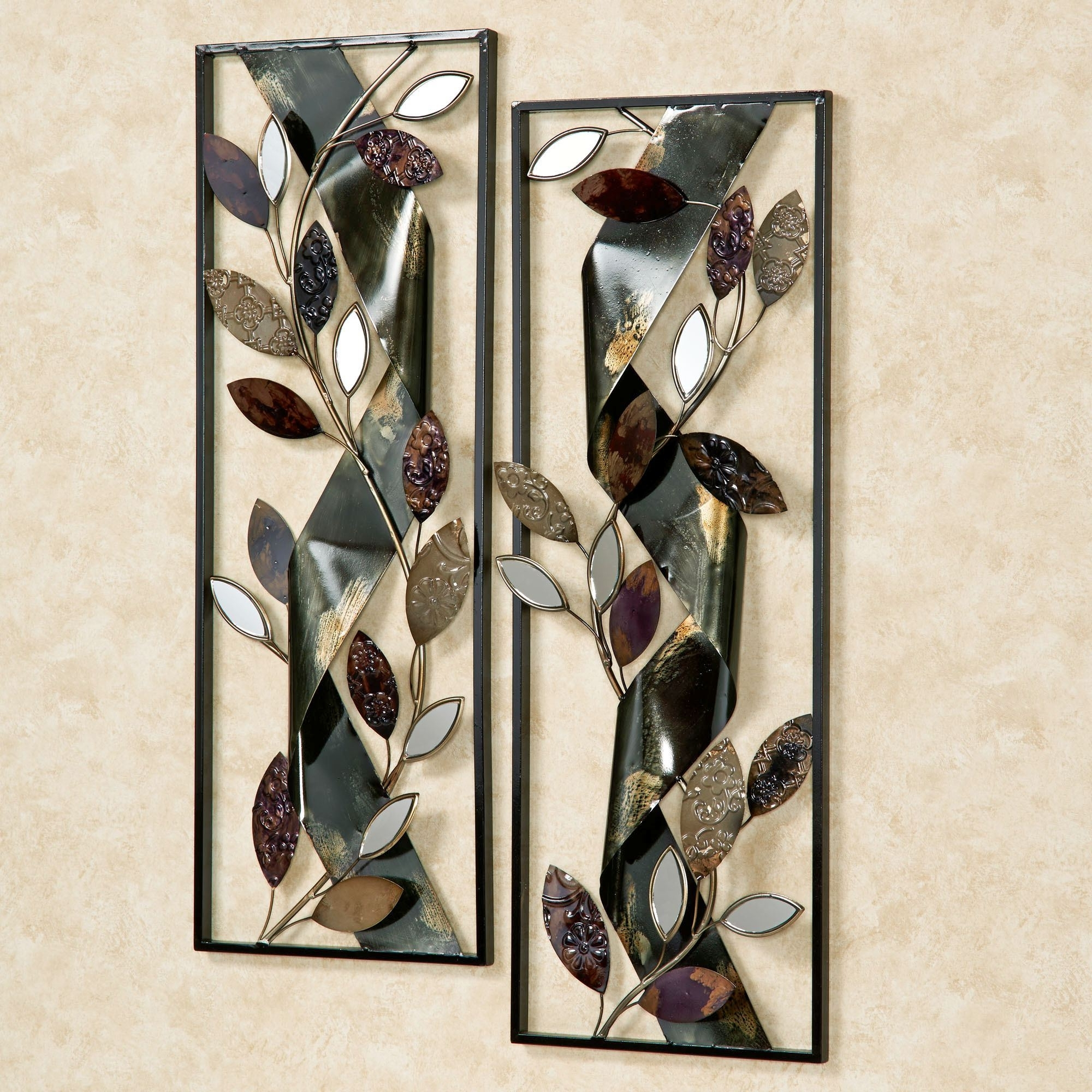 Most Up To Date Autumn Whisper Metal Wall Art Panel Set For Metal Wall Art Panels (View 13 of 15)