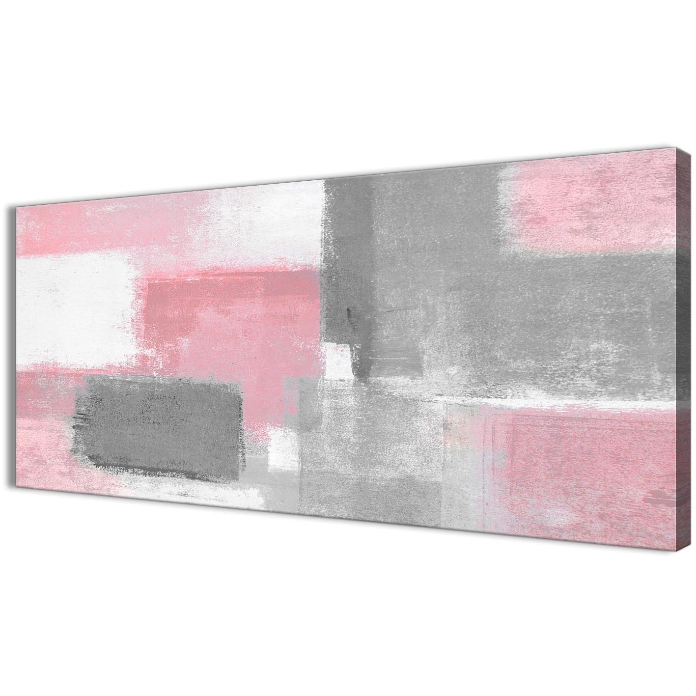 Most Up To Date Blush Pink Grey Painting Bedroom Canvas Wall Art Accessories With Pink Wall Art (View 10 of 15)