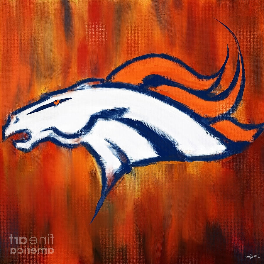 Most Up To Date Broncos Wall Art With Denver Broncos Paintinglourry Legarde (View 2 of 15)