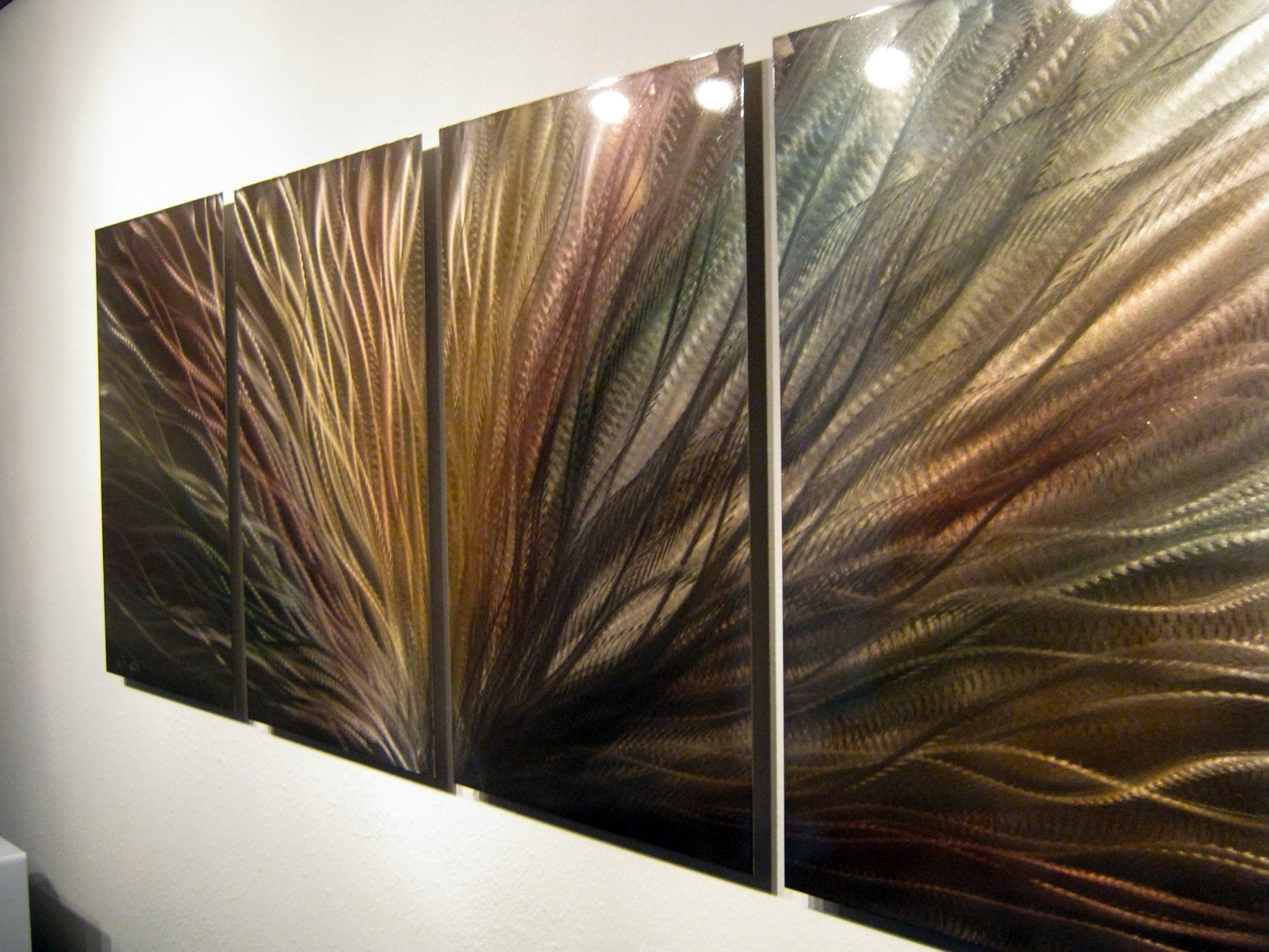 Most Up To Date Bronze Radiance – Metal Wall Art Abstract Sculpture Painting Modern Throughout Bronze Wall Art (View 9 of 15)