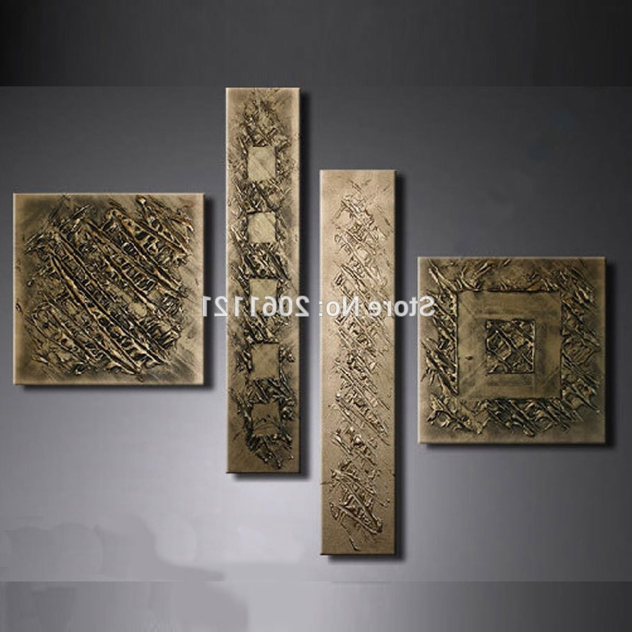 Most Up To Date Bronze Wall Art With Hand Painted Retro Gilt Gunmetal Wall Painting Bronze Antigold (View 2 of 15)