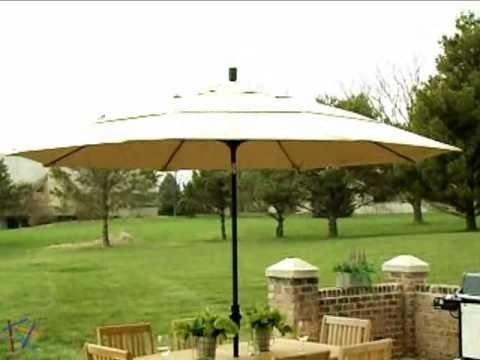 Most Up To Date California Umbrella 11 Ft Wind Resistant Patio Umbrella – Product Throughout 11 Foot Patio Umbrellas (View 3 of 15)