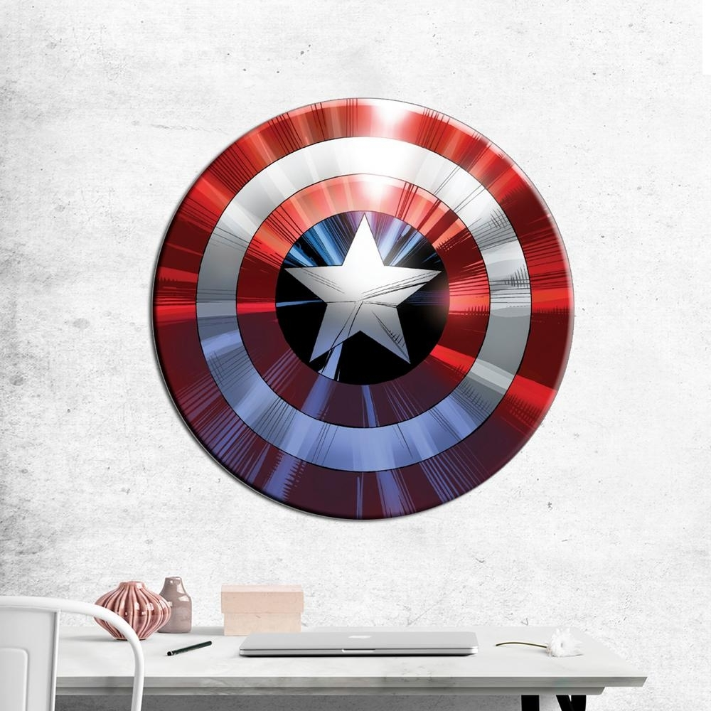 Most Up To Date Captain America Wall Art With Regard To Pyramid America 27 In (View 12 of 15)