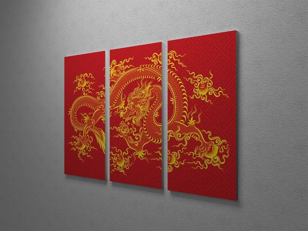 Most Up To Date Chinese Wall Art Throughout Chinese Dragon Canvas Wall Art (View 2 of 15)
