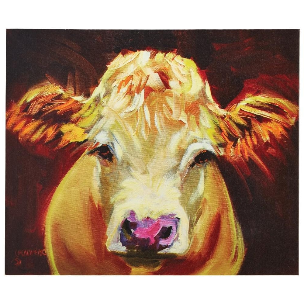 Most Up To Date Cow Canvas Wall Art Pertaining To 3R Studios 20.25 In. H X 24 In (View 2 of 15)
