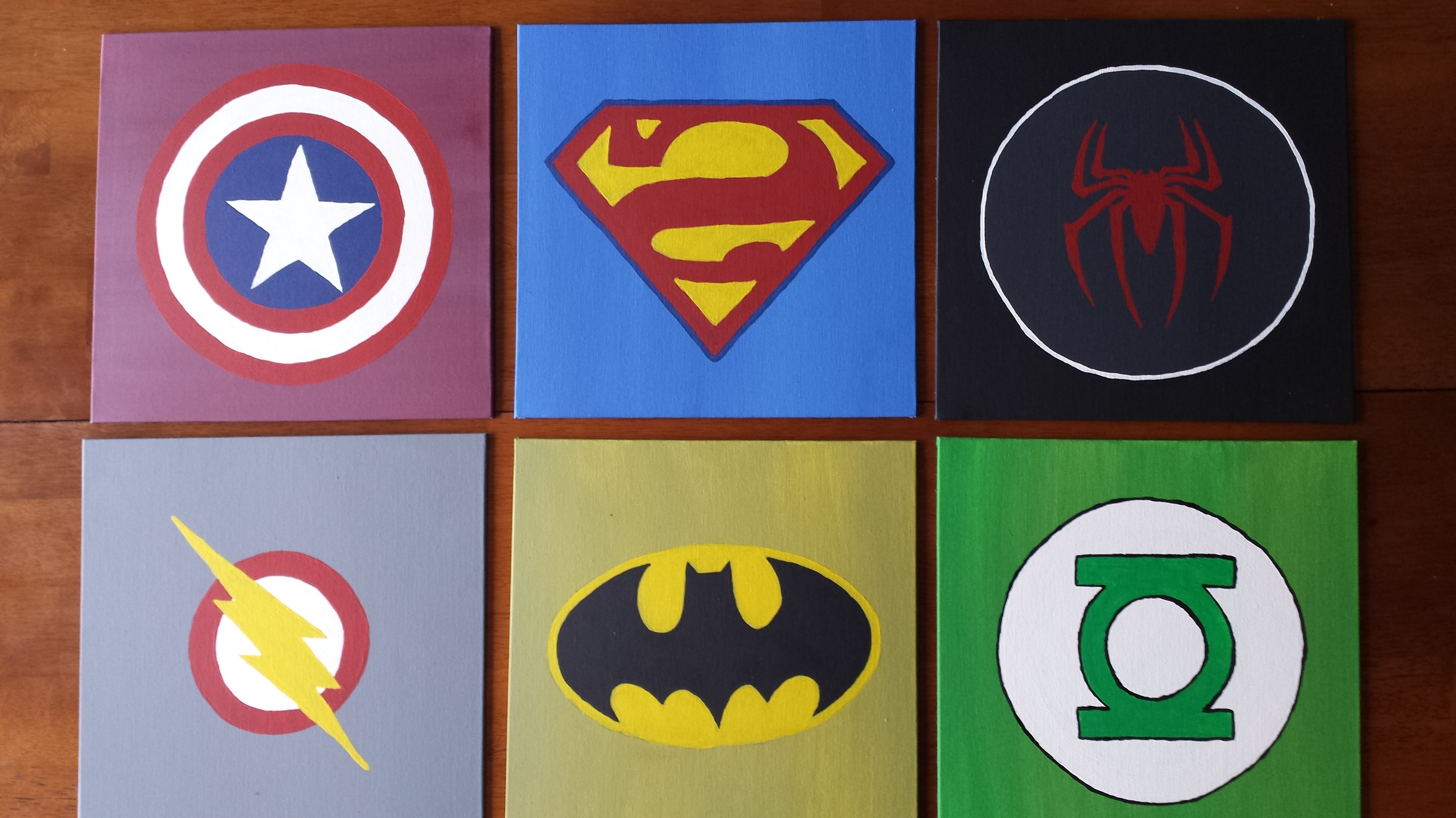 Most Up To Date Diy Wall Art For Boys  Superhero Logos (View 3 of 15)