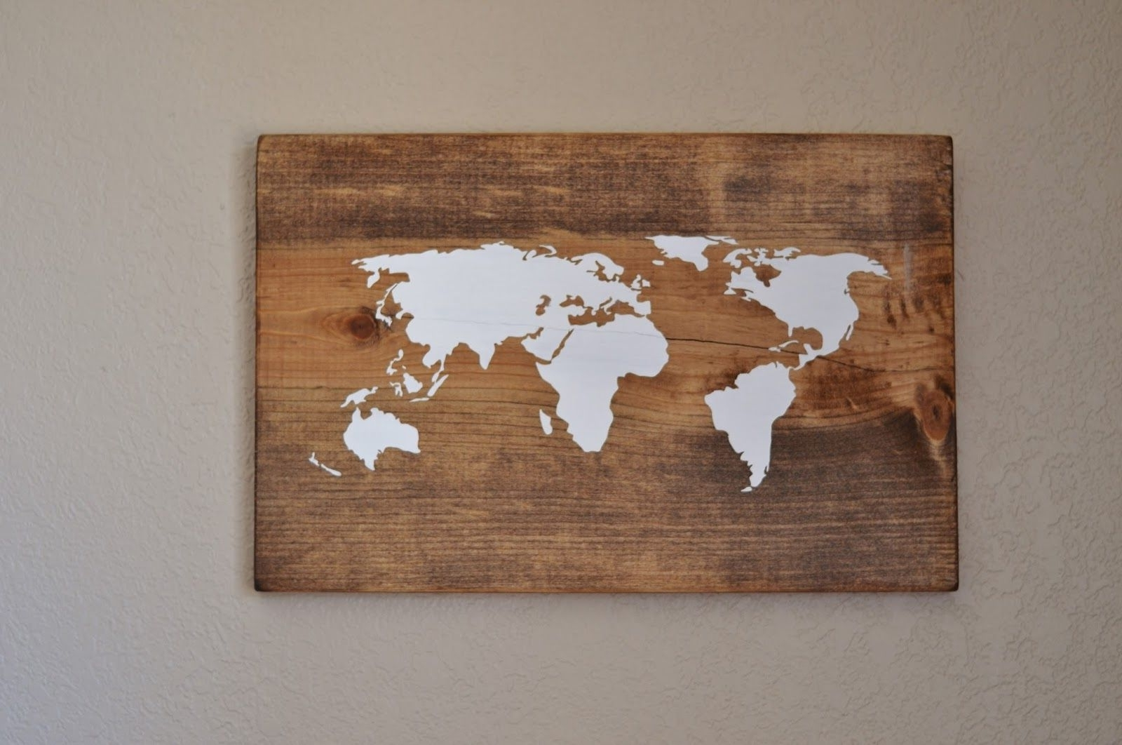 Most Up To Date Diy World Map Wall Art Regarding All Things Bright And Beautiful: Diy World Map Wall Art – Very Cool (View 2 of 15)