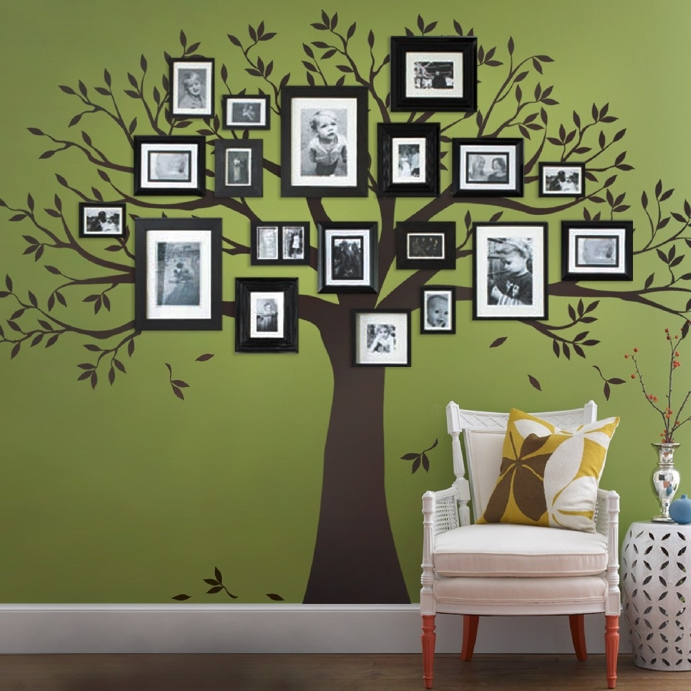 Most Up To Date Family Tree Wall Art Pertaining To Family Tree Wall Decal – Tree Wall Decal For Picture Frames (View 6 of 15)