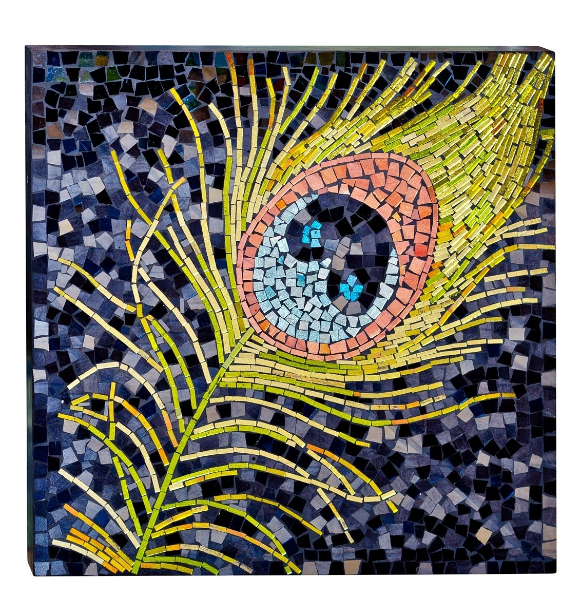 Most Up To Date Glass Wall Art Pertaining To Mosaic Glass Peacock Wall Art – Be Fabulous! (View 11 of 15)