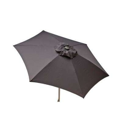 Most Up To Date Grey Patio Umbrellas Intended For Gray – Market Umbrellas – Patio Umbrellas – The Home Depot (View 6 of 15)