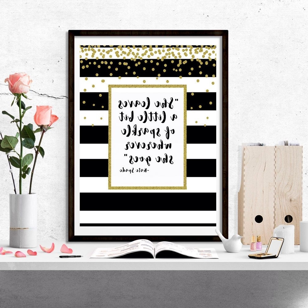 """Most Up To Date Kate Spade """"she Leaves A Little Bit Of Sparkle Wherever She Goes Throughout Kate Spade Wall Art (View 11 of 15)"""