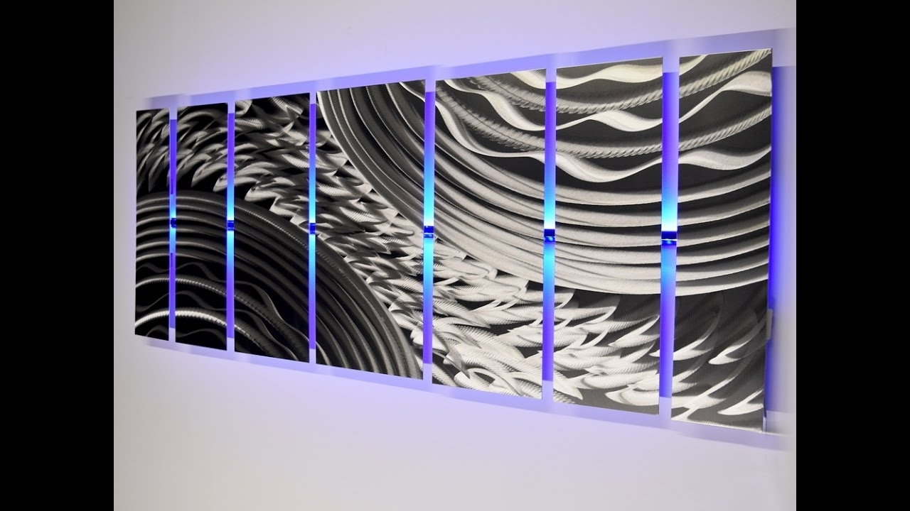 """Most Up To Date Led Wall Art Throughout Led Infused Metal Wall Art """"silver Storm"""" – Dv8Studio – Youtube (View 9 of 15)"""