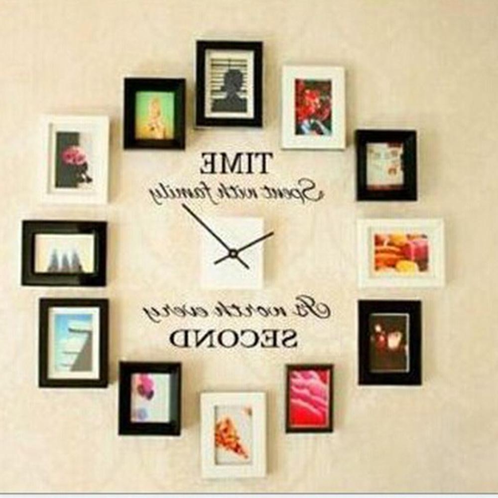 Most Up To Date Letter Wall Art For Time Spent With Family Quote Wall Decoration Letters Vinyl Home Wall (View 12 of 15)