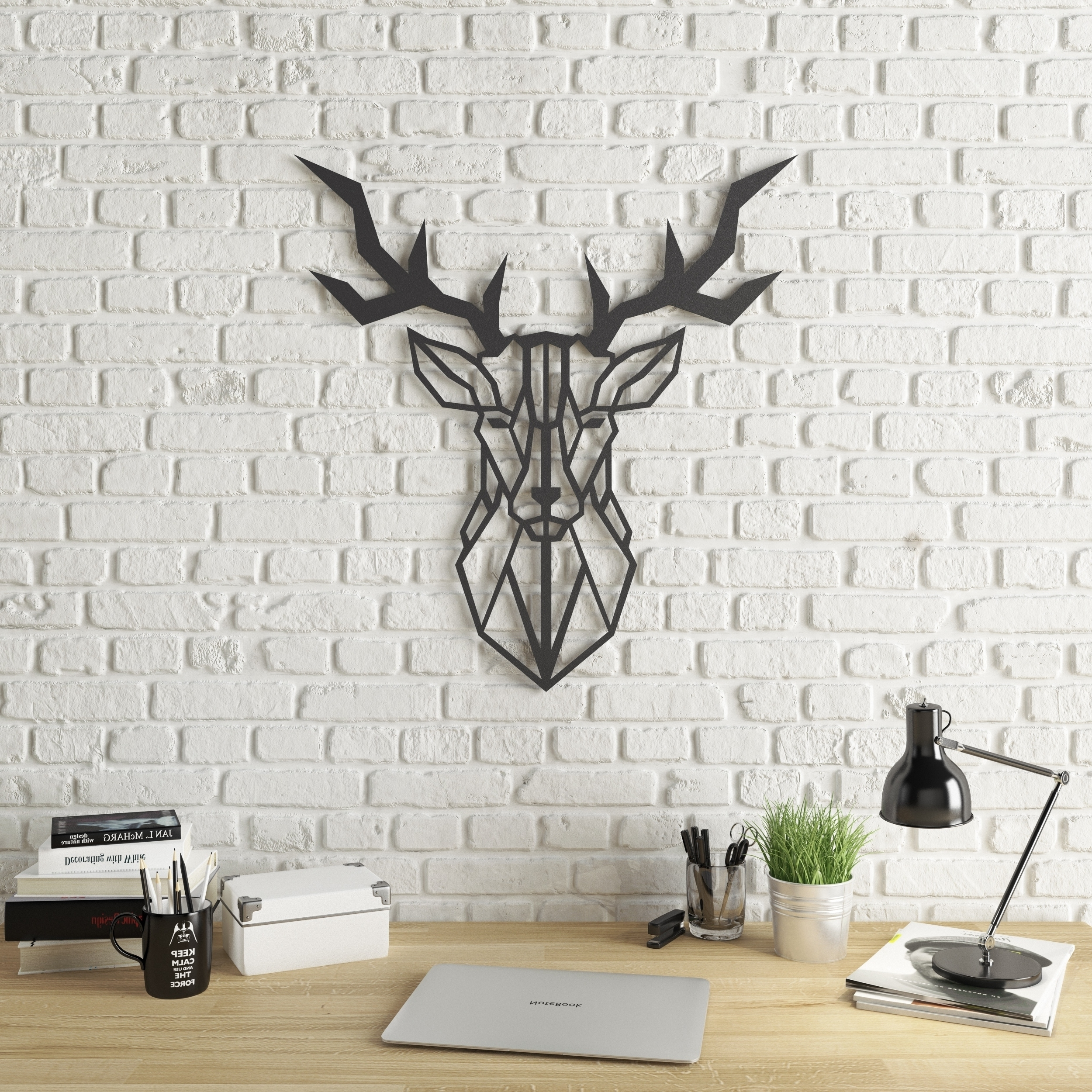 Most Up To Date Modern Metal Wall Art With Regard To Shop Geo Deer Modern Metal Wall Art – On Sale – Free Shipping Today (View 10 of 15)