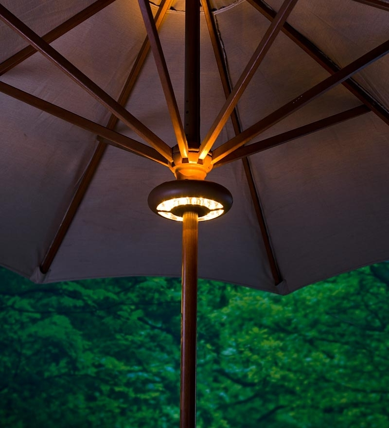 Most Up To Date Patio Umbrellas With Lights With Regard To Waterproof Patio Umbrella Lights Home Depot : Best Furniture Decor (View 11 of 15)