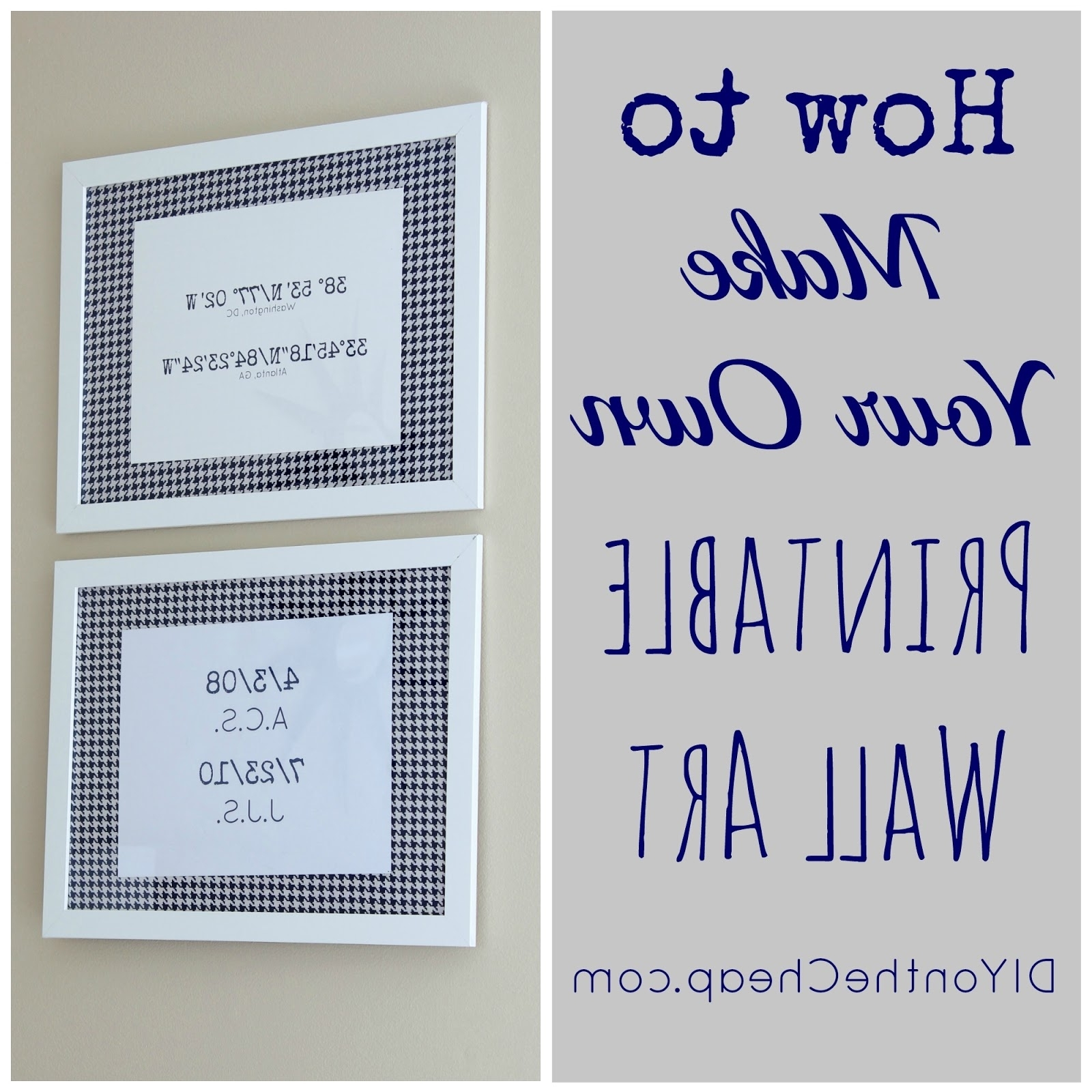 Most Up To Date Printable Wall Art Pertaining To How To Make Your Own Printable Wall Art – Erin Spain (View 5 of 15)