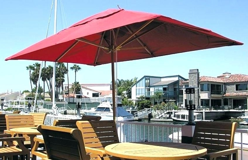 Most Up To Date Rectangular Sunbrella Patio Umbrellas Within Amazing Rectangular Sunbrella Patio Umbrellas Or Yellow Patio (View 7 of 15)