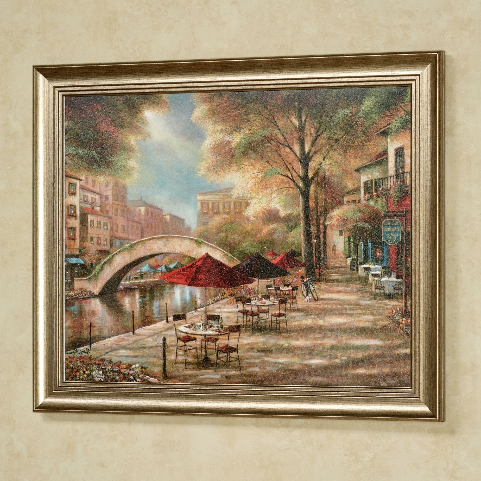 Most Up-to-Date Riverwalk Charm Framed Wall Art Picture intended for Framed Wall Art