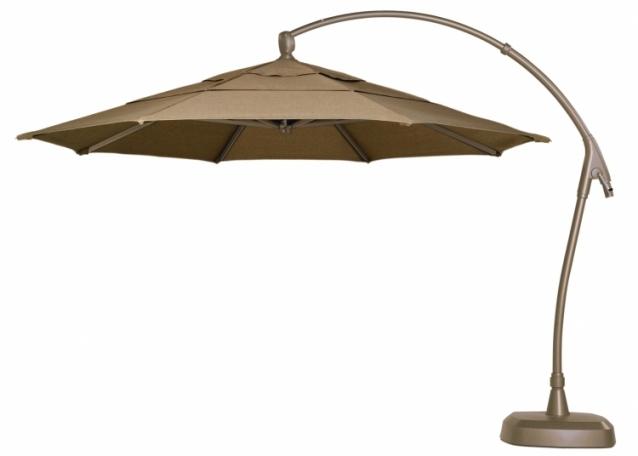 Most Up To Date Sampler Sunbrella Fabric Umbrellas Cantilever Patio The Home Inside For Patio Umbrellas With Sunbrella Fabric (View 9 of 15)