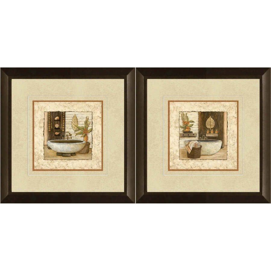 Most Up To Date Shop 12 In W X 12 In H Bathroom Framed Art At Lowes For Wall Art For Bathroom (View 8 of 15)