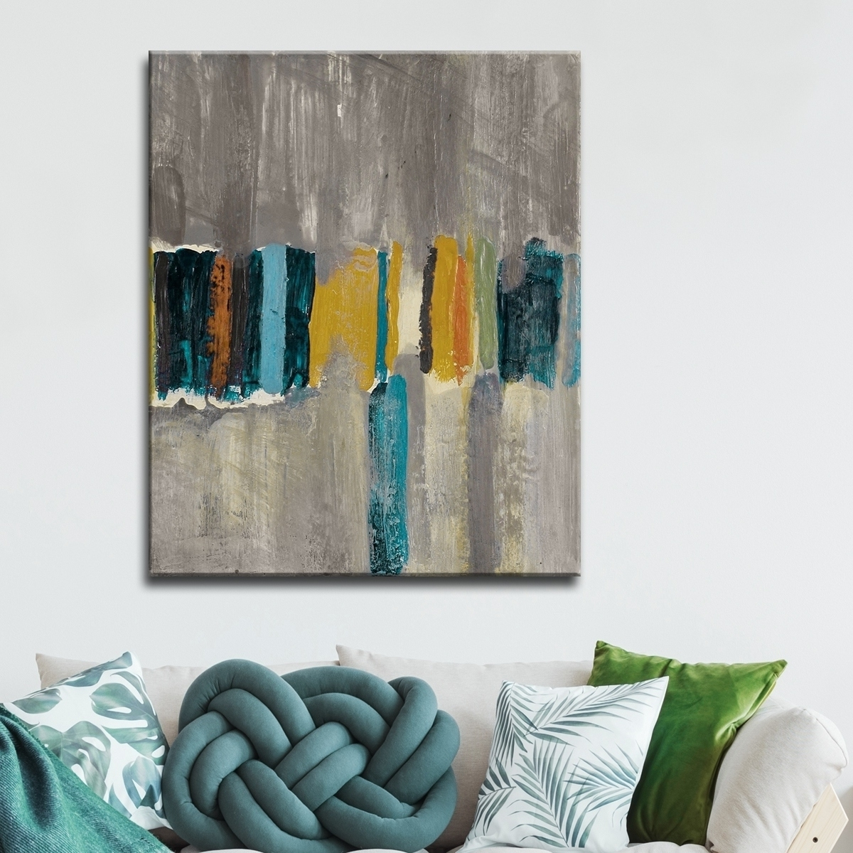 Most Up To Date Shop Ready2Hangart 'smash Vii' Oversized Canvas Wall Art – Grey Throughout Overstock Wall Art (View 11 of 15)