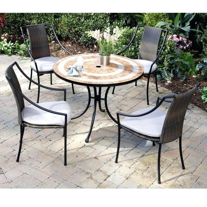 Most Up To Date Small Patio Tables With Umbrellas Hole Pertaining To Patio Small Table And Chairs Round Set With Umbrella Hole Tables (View 5 of 15)