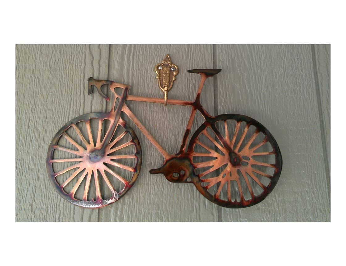 Most Up To Date Smw162 Metal Road Bike Wall Art – Sunriver Metal Works With Bicycle Wall Art (View 7 of 15)