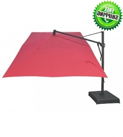 Most Up To Date Sunbrella Patio Umbrellas Within Treasure Garden Rectangle Cantilever Umbrella (View 10 of 15)